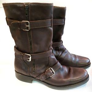 10 JCrew Women's Moto Combat Leather Boot